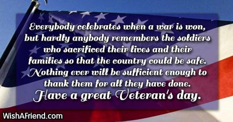 Happy Veterans Day Message