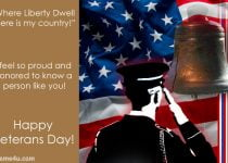 Veterans Day Messages Card