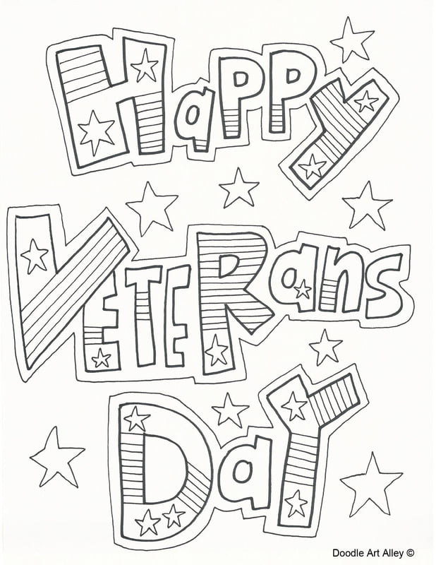 Veterans Day Pictures to Color for Kids
