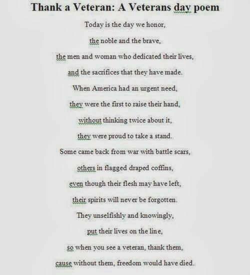 Thank a Veteran A Veterans day poem