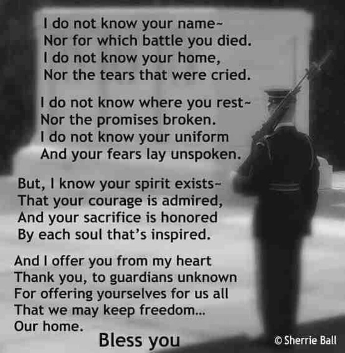 Veterans Day Poems for US Soldiers