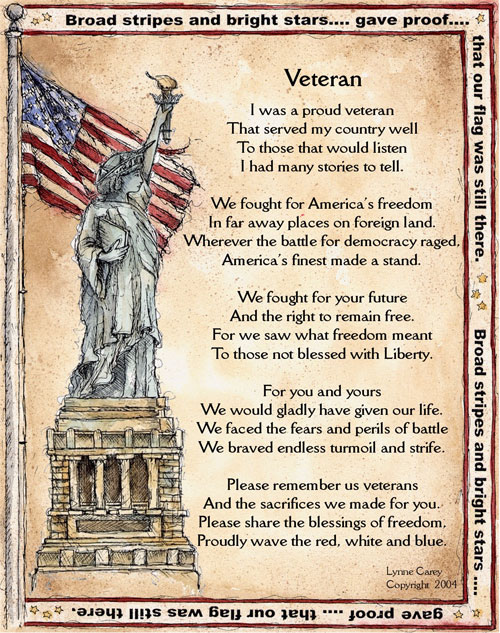 Veterans Day Poems - Veterans Day Tributes Quotes
