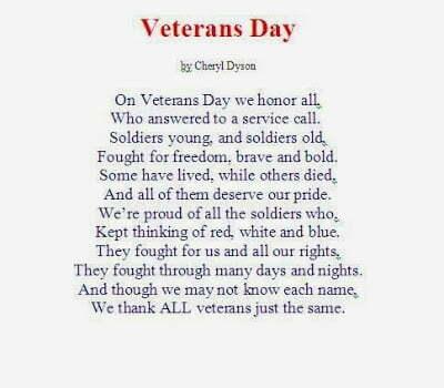 Veterans Day Poems for Church