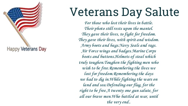Veterans Day Salutes Quotes - Happy Veterans Day Quotes ...