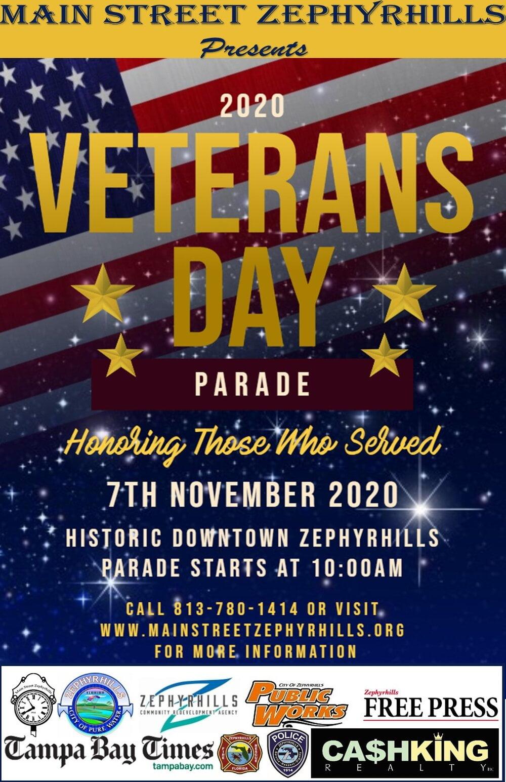Zephrhills Veterans Day Parade 2020 Information