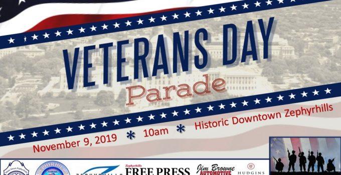 Zephrhills Veterans Day Parade 2019 Information